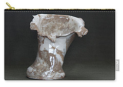 Organic Marbled Clay Ceramic Vase Carry-all Pouch by Suzanne Gaff
