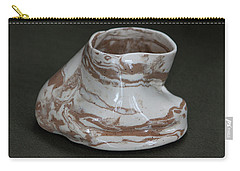 Organic Marbled Clay Ceramic Vessel Carry-all Pouch by Suzanne Gaff