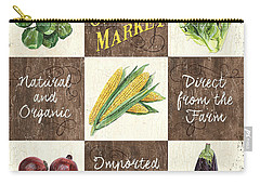 Organic Market Patch Carry-all Pouch by Debbie DeWitt
