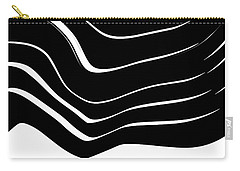 Organic No. 10 Black And White #minimalistic #design #artprints #shoppixels Carry-all Pouch