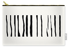 Organic No 12 Black And White Line Abstract Carry-all Pouch