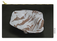 Organic Oval Marbled Ceramic Dish Carry-all Pouch by Suzanne Gaff