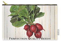 Organic Seed Packet 3 Carry-all Pouch by Debbie DeWitt