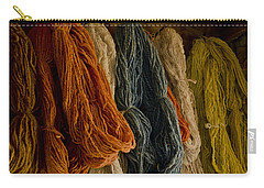 Organic Yarn And Natural Dyes Carry-all Pouch