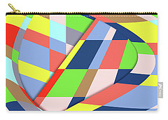 Carry-all Pouch featuring the digital art Organized Cubic Chaos by Bruce Stanfield