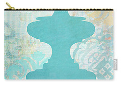 Oriental Far East Design Blue Carry-all Pouch by Suzanne Powers