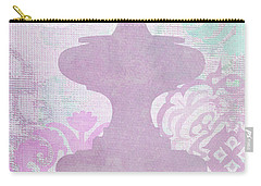 Oriental Far East Design Purple Carry-all Pouch by Suzanne Powers