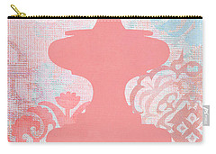 Oriental Far East Design Red Carry-all Pouch by Suzanne Powers