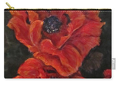 Oriental Poppys  Carry-all Pouch by Barbara O'Toole
