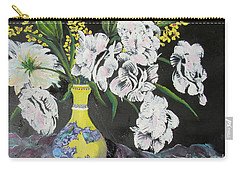 Oriental Vase And Flowers Carry-all Pouch