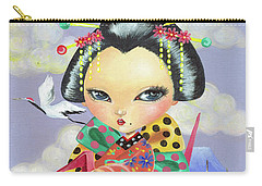 Origami Girl Carry-all Pouch
