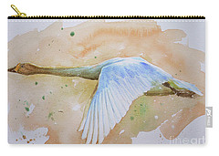 Original Animal Artwork Watercolour Painting  Wild Goose On Paper#16-6-16-04 Carry-all Pouch by Hongtao Huang