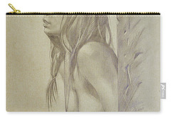 Original Artwork Drawing Female Nude Girl Women On Paper#16-6-29-01 Carry-all Pouch by Hongtao Huang
