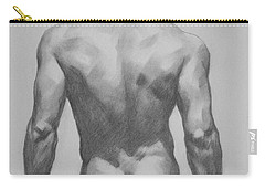 Original  Drawing Artwork Male Nude Men  On Paper #16-1-7 Carry-all Pouch