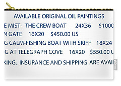 Original Oil Painting Availability List Carry-all Pouch