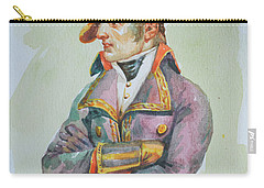 original watercolor painting artwork portrait of NapoLeon on paper#10-029-01 Carry-all Pouch