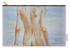 Original Watercolour Painting Boy Nude On Paper#16-9-19 Carry-all Pouch