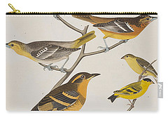 Orioles Thrushes And Goldfinches Carry-all Pouch by John James Audubon