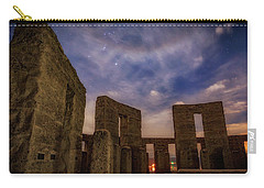 Carry-all Pouch featuring the photograph Orion Over Stonehenge Memorial by Cat Connor