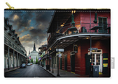 Orleans Street To St Louis Cathedral Carry-all Pouch