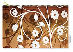Carry-all Pouch featuring the digital art Ornamental 2 Warm by Angelina Vick