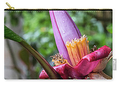 Ornamental Banana Flower Carry-all Pouch by Kathy McClure