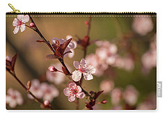 Purple Leaf Sandcherry Blossoms 2 Carry-all Pouch