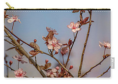 Purple Leaf Sandcherry Blossoms Carry-all Pouch