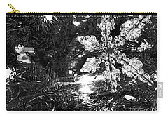 Carry-all Pouch featuring the photograph Ornamental Snowflake by Robert Knight