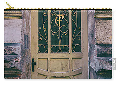 Ornamented Doors In Light Brown Color Carry-all Pouch by Jaroslaw Blaminsky
