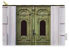 Ornamented Gates In Olive Colors Carry-all Pouch by Jaroslaw Blaminsky
