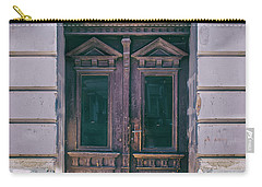 Ornamented Wooden Gate In Violet Tones Carry-all Pouch by Jaroslaw Blaminsky