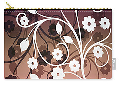 Carry-all Pouch featuring the digital art Ornametal 2 Purple by Angelina Vick