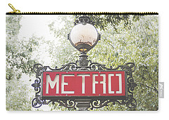 Ornate Paris Metro Sign Carry-all Pouch by Ivy Ho