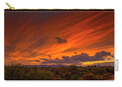 Carry-all Pouch featuring the photograph Oro Valley Sunset H6 by Mark Myhaver