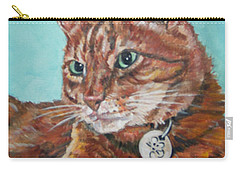 Carry-all Pouch featuring the painting Oscar by Bryan Bustard