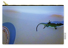 Carry-all Pouch featuring the photograph Oscar The Lizard by Denise Fulmer
