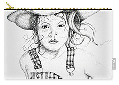 Carry-all Pouch featuring the drawing Osh Kosh by Mayhem Mediums