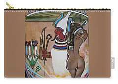 Osiris With Goddess Isis And 4 Grandkids Carry-all Pouch