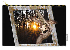 Osprey At Sunset  Black Carry-all Pouch