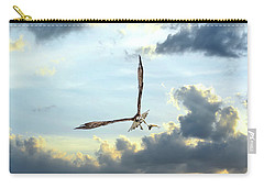 Osprey Flying In Clouds At Sunset With Fish In Talons Carry-all Pouch