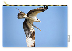 Carry-all Pouch featuring the photograph Osprey In Flight by Ricky L Jones