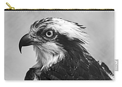 Osprey Monochrome Portrait Carry-all Pouch by Chris Flees