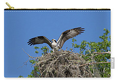 Osprey On Nest Wings Held High Carry-all Pouch