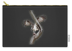 Carry-all Pouch featuring the photograph Osprey Tee-shirt by Donna Brown