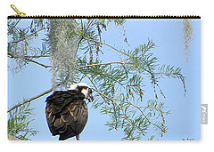 Osprey With A Fish Carry-all Pouch by Chris Mercer