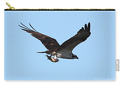 Osprey With Fish Carry-all Pouch