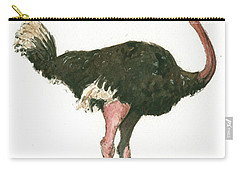 Ostrich Bird Carry-all Pouch
