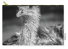 Ostrich Black And White Carry-all Pouch