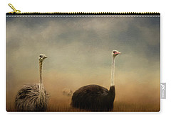 Ostrich Couple Carry-all Pouch by Jai Johnson